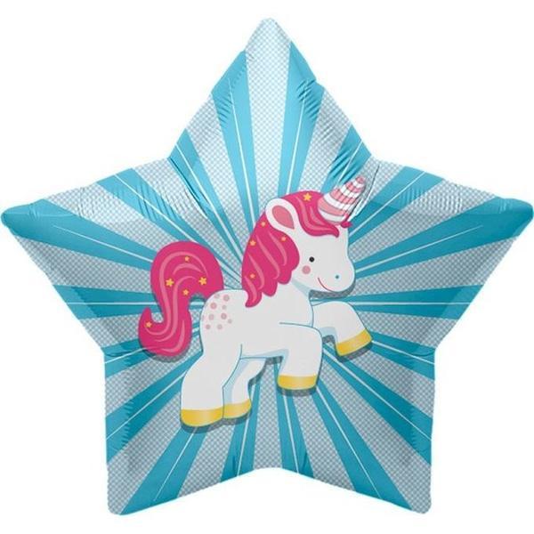 Children Balloons - Northstar Unicorn Starburst 22 Inch Balloon ~ Pony