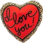 "NorthStar 18"" Inch Leopard Love Heart Foil Balloon"