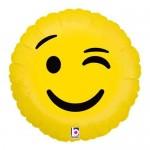 Betallic 18 Inch Emoji Wink Foil Balloon