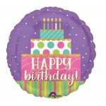 Anagram 18 Inch Birthday Cake Swirls Balloon