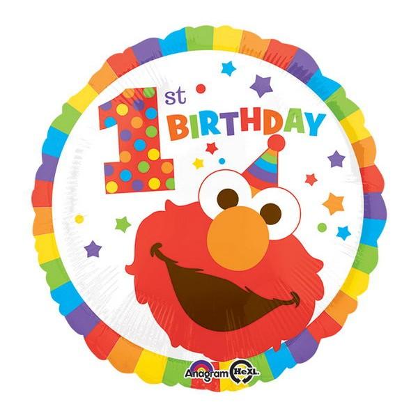 Character Balloons - Anagram 17 Inch Sesame Street Elmo 1st Birthday