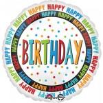 Anagram 18 Inch Happy Birthday Circles Balloon