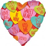Anagram 18 inch Hearts with Messages Balloon