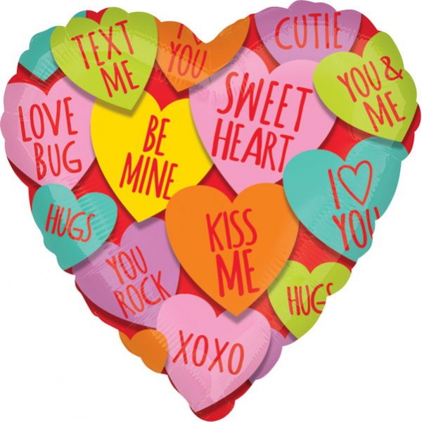 Special Occasion - Anagram 18 inch Hearts with Messages Balloon