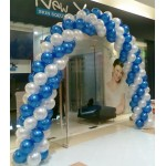 Balloon Arch 10 x 8 ft ~ Spiral Design