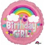 Anagram 18 Inch Birthday Girl Rainbow Fun Balloon
