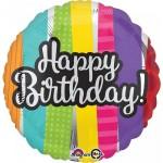 Anagram 17 Inch Happy Birthday Patterns Balloon