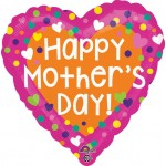 Anagram 17 Inch Dots & Hearts Mother's Day Balloon