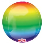 "Anagram 16"" Inch Orbz Rainbow Balloon"