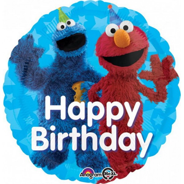 Character Balloons - Anagram 17 Inch Sesame Street Fun Happy Birthday