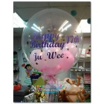 Others - 24 Inch Bubble Balloon With Custom Design Sticker