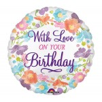 Anagram 18 Inch With Love On Your Birthday Balloon