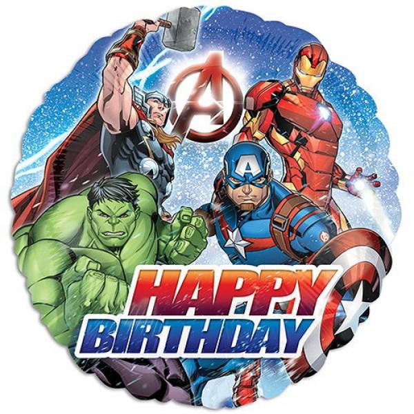 Children Balloons - Anagram 17 Inch Avengers Happy Birthday Balloon