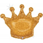 Betallic 36 Inch Glittering Crown Balloon