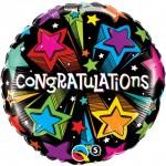 Qualatex 18 Inch Congratulations Shooting Stars
