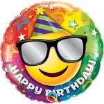 Qualatex 18 Inch Birthday Smiley Foil Balloon