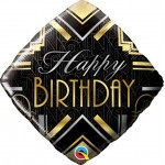 Qualatex 18 Inch diamond Birthday Art Deco