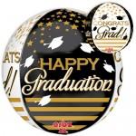 Anagram 16 Inch Orbz Congrats Grad Gold & Black