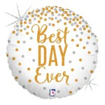 Betallic 18 Inch Best Day Ever Glitter Balloon
