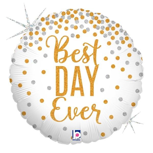 Wedding - Betallic 18 Inch Best Day Ever Glitter Balloon