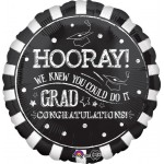 Anagram 18 Inch Chalk Hooray Graduation Balloon