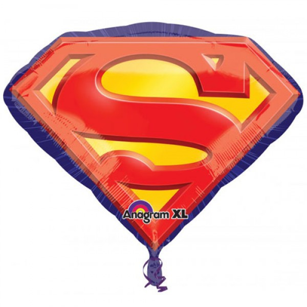 Character Balloons - Anagram 26 Inch Superman Emblem SuperShape Balloon
