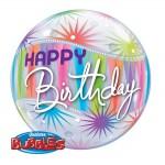 "Qualatex 22"" Inch Birthday Sorbet Starblast Bubbles Balloon"