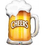 """Qualatex 35"""" Inch Cheers Beer Mug Supershape Balloon"""