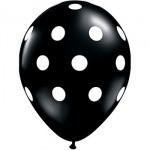"Mytex 12"" Inch AO White Polka Dots Black ~ 10pcs"