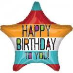 Anagram 18 Inch Bold Type Birthday Star