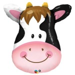 "Qualatex 32"" Inch Smiley Cow SuperShape Balloon"