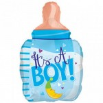 CTI 22 Inch Petite Boy Blue Bottle Balloon