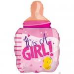 CTI 22 Inch Petite Girl Pink Bottle Balloon