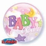 "Qualatex 22"" Inch Baby Girl Moon & Stars"
