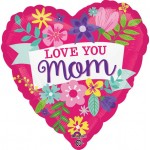 Anagram 17 Inch Love You Mom Cute Floral
