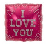NorthStar 18 Inch Plaid Love Square Balloon