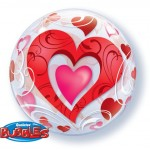 "Qualatex 22"" Inch Swirly Heart Bubble Balloon"
