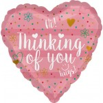 Anagram 18 Inch Thinking Of You Coral Heart Shape