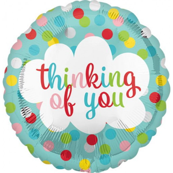 Special Occasion - Anagram 18 Inch Thinking Of You Dots Balloon