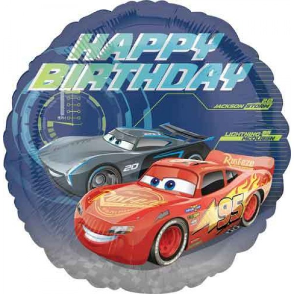 Character Balloons - Anagram 17 Inch Disney Cars 3 Birthday Balloon