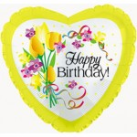 CTI 17 Inch Happy Birthday Yellow Floral