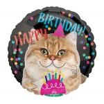 Anagram 18 Inch HBD Birthday Cat Balloon