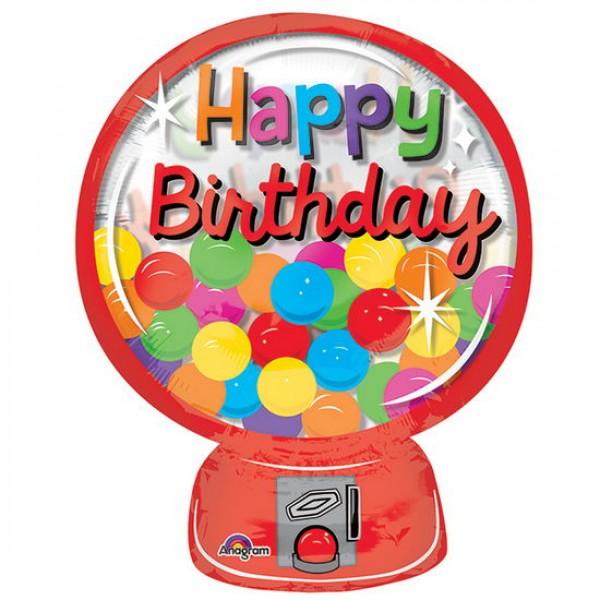 Birthday Balloons - Anagram 20 Inch Gumball Machine HBD
