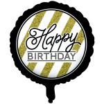 CTI 17 Inch Happy Birthday Black and Gold
