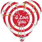 Anagram 18 Inch I Love you Bullseye