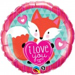 Qualatex 18 Inch Love You Foxy Hearts