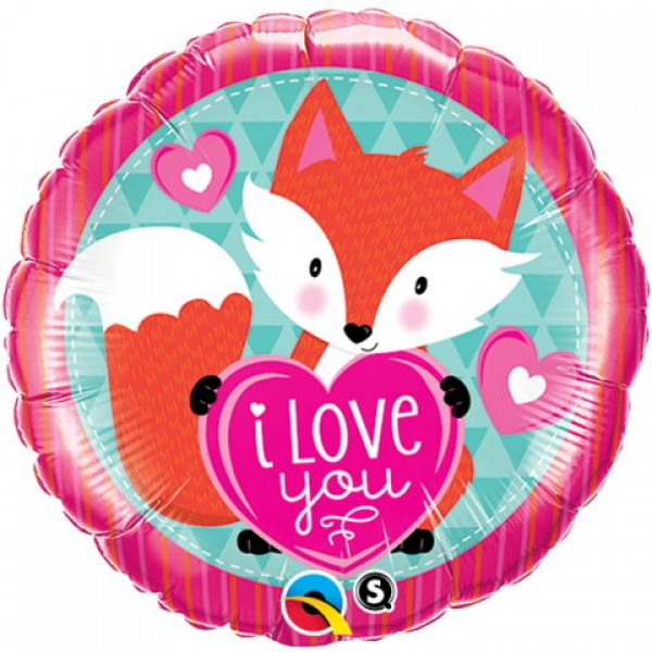 Love & Affection - Qualatex 18 Inch Love You Foxy Hearts