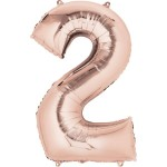 Mytex 30 Inch Jumbo Number 2 Rose Gold Balloon