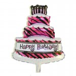 Mytex Triple Layer Birthday Cake Mini Foil Balloon ~ 5pcs
