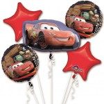 Anagram Disney Cars McQueen Balloon Cluster Bouquet 5pcs
